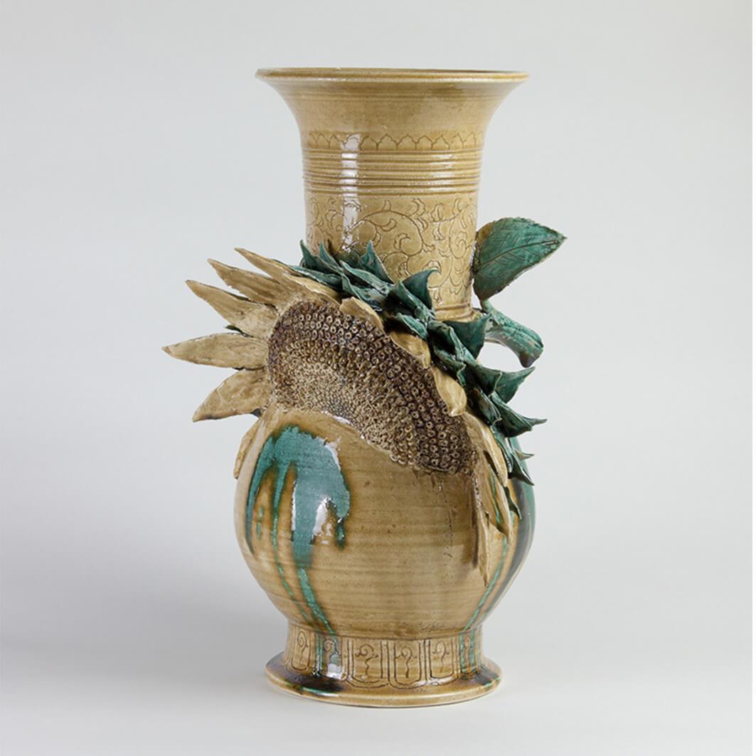 ヒマワリ/黄瀬戸瓶